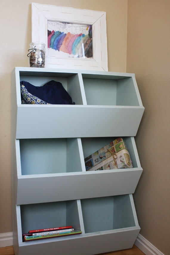 Items similar to 6-bin Toy Storage Woodworking Plans on Etsy