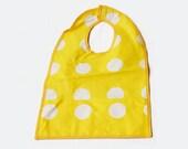 Baby Bib, Feeding Accessories, Yellow White Dotted