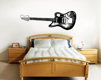 Vinyl Wall Decal Sticker Electric Guitar OSMB594s