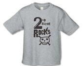 Back to School - Second  Grade Rocks T-shirt - Rock n Roll Skull Shirt - Rock n Roll Theme Party - Boys and Girls Back to School Shirts