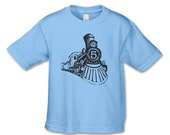 Train Number 5 Birthday Shirt -  Vintage  Feel Locomotive T-Shirt for 5th Birthday - Train Party-Choose your number