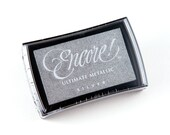 Encore Ultimate Metallic Pigment Ink Pad in Silver from Tsukineko - Large