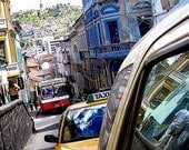 City Landscape, Color, Quito Ecuador City Traffic Fine Art Photograph