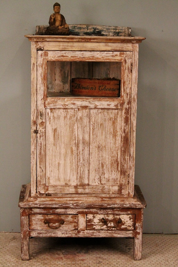 Distressed Wood And Glass Bathroom Wall Cabinet: Unavailable Listing On Etsy