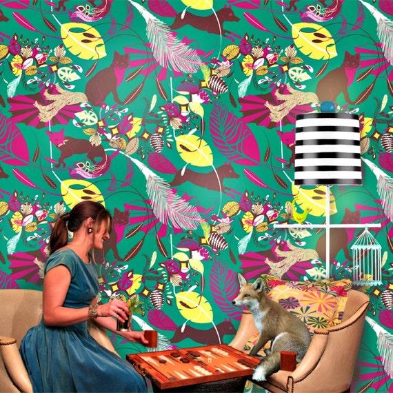 Wallpaper in Foxtrot Pattern 5 colorways