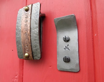 BELT BUCKLE HOOK  Personalized - Hand Forged by Blacksmith Naz - Wall hanging Belt Buckle Display