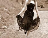 Black Lace and Corset Dress, Alternative weddings, Bridal
