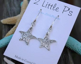 Beach Jewelry, Starfish earrings, Gift for her