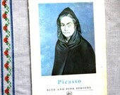 Vintage Picasso Book Blue and Pink Periods 1956 by Frank Elgar