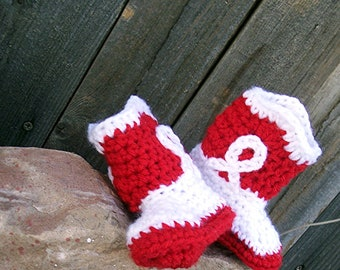 Red Cowboy Boots, Red Cowgirl Boots, Crochet Cowboy Boots, Baby Cowgirl Boots, Western Baby Girl Crochet Baby Booties