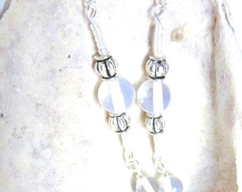 Moonstone and Silver Earrings   ID 221