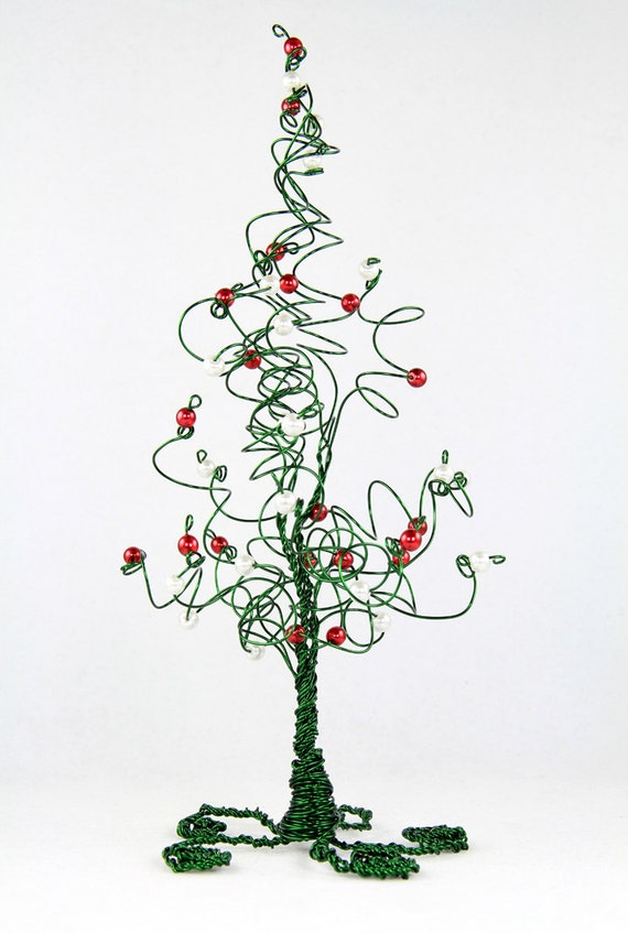 Christmas tree evergreen wire wedding cake by