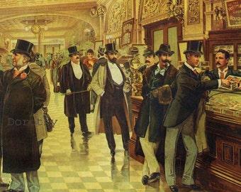 Hoffman House Bouquet Cigars & Remington Fire Engine 1883 Victorian Era Advertisement Poster To Frame