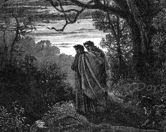 She-Wolf Appears Inferno Canto 1 Engraving Gustave Dore' In Hell