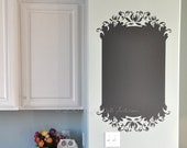 Elegant Chalkboard Vinyl Wall Decal, size LARGE - Chalkboard Wall Art, Kitchen Decor, Bedroom Decor, Office Decal,