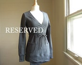 Reserved for Megan - Wrap Cardigan in Cotton Sweatshirt Fleece