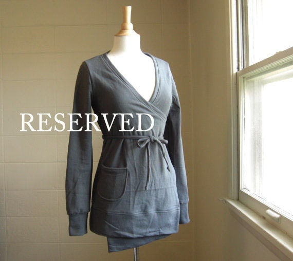 Reserved for Megan - Wrap Cardigan in Cotton Sweatshirt Fleece