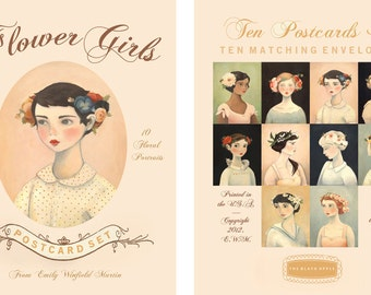 Flower Girls Postcard Collection by Emily Winfield Martin