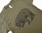 BEAR T-Shirt - Grizzly Bear California State Bear Mens  American Apparel Shirt - (Available in sizes S, M, L, XL