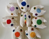 Chakra Mini Monster Set Crochet Amigurumi Plush - Made To Order - knotbygranma