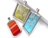 Clearance Lot of 3 - small stained glass pendants (Lot502)