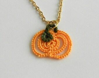Tatted Pendant - Pumpkin