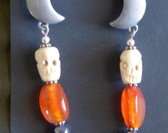 Every Day is Halloween Tribal Goth Earrings