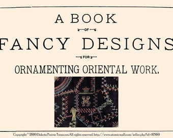 1884 Victorian Crazy Quilt Embroidery Stitches Book Quilts - 95 Quilting Designs