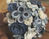 SALE-25% OFF-All blues bouquet--wedding or home decor