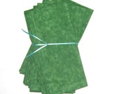 Green Cloth Napkins Set of 4