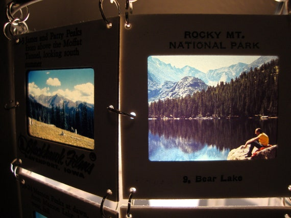 Peaks and Parks of Colorado special collection 35mm slide lamp