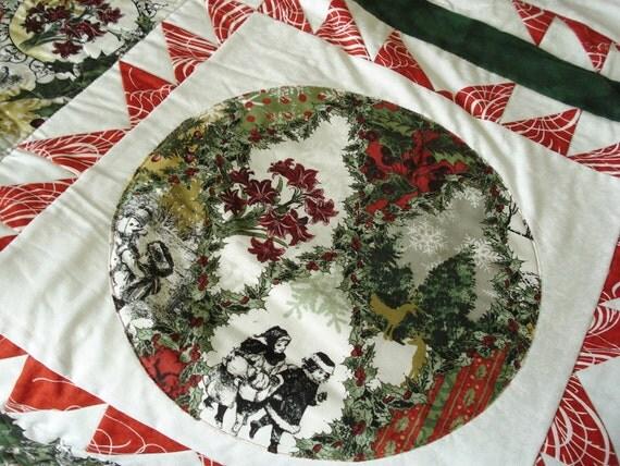 Wintergraphix Circle lap quilt in Jason Yenter Fabrics