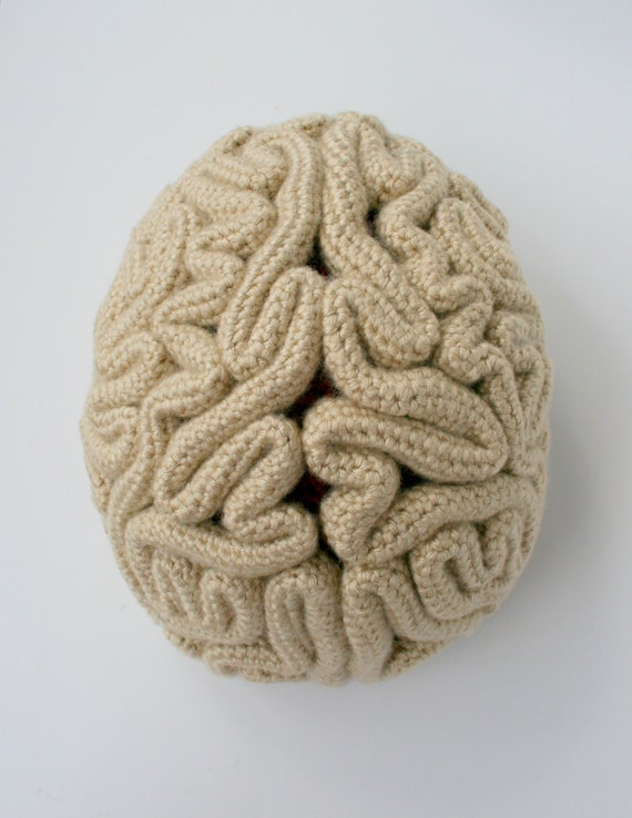 brain hat template - crochet pattern the brain beanie