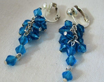 Teal Two Earrings by Diana