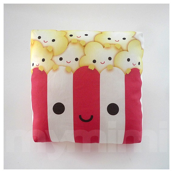 Decorative Pillow, Mini Pillow, Kawaii Toy - Yummy Popcorn