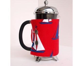 Bodum French Press Coffee Cozy - Sailboat  Style -