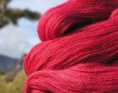 Lace Weight Yarn - Baby Alpaca, Silk, Cashmere - Crimson