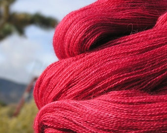 Lace Weight Yarn - Baby Alpaca, Silk, Cashmere - Crimson