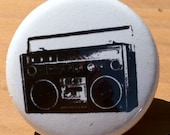 BOOM BOX - Button, Magnet, or Bottle Opener