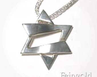 Faith Collection: Jazzy Silver Magen David (with 16 inch sterling silver chain)