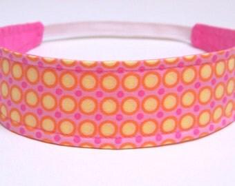 Girls Childs Childrens Headband  -  MADELINE -  Reversible Fabric