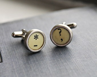 CUFFLINKS Typewriter Key Custom Vintage Intials Wedding UNIQUE GIFT