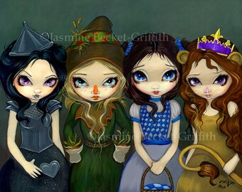 Off to See the Wizard of oz dorothy scarecrow fairy art print by Jasmine Becket-Griffith 8x10