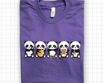 Band o' Pandas American Apparel Purple T-shirt
