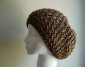 Crochet Pattern for Slouchy Beanie Beret Hat in PDF