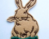 Bunny rabbit iron on or sew on patch applique - easter - cute patches -patches for jackets - back patches - kawaii