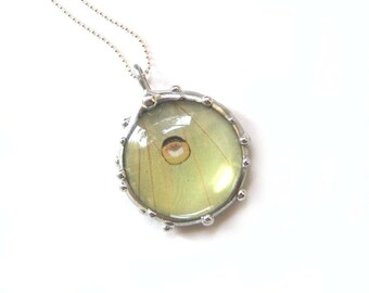 Real Luna Moth Circle Necklace