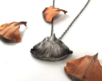 Sterling Silver Pinecone Petal Necklace