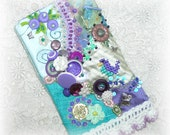 Cellphone Pouch Hand Embroidered Crazy Quilt