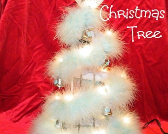 How to make Baby's 1st Christmas Tree diaper cake topper keepsake. New baby gift, baby shower centerpiece